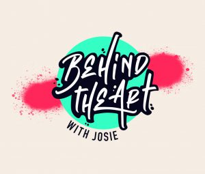 Logo for Behind the Art with Josie